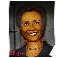 The Hillary Rodham Clinton 25¢ Postage Stamp Poster