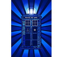 Tardis of Text Photographic Print