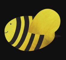 Cute Bumble Bee Fabric Collage Kids Tee