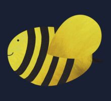Cute Bumble Bee Fabric Collage Kids Clothes