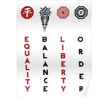 Korra's Antagonists - Legend of Korra (Red / Black Lettering) Poster