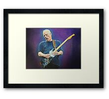 David Gilmour fan art Framed Print
