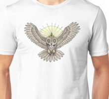 Mason Owl with skull, rule, compass and the eye that sees everything (tattoo style) Unisex T-Shirt
