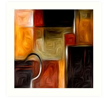 Abstract Squares Oil Painting #1 Art Print