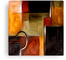 Abstract Squares Oil Painting #1 Canvas Print