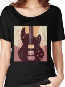 Retro Guitar Poster 3 Women's Relaxed Fit T-Shirt