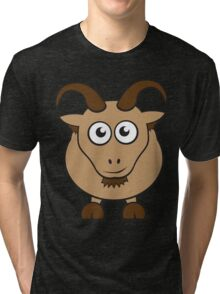 Grover The Goat in Brown Tri-blend T-Shirt