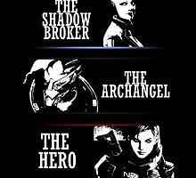 Shadowbroker, Archangel, the Hero femshep by berabbit