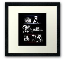 Shadowbroker, Archangel, the Hero femshep Framed Print