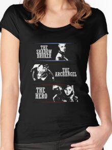 Shadowbroker, Archangel, the Hero femshep Women's Fitted Scoop T-Shirt