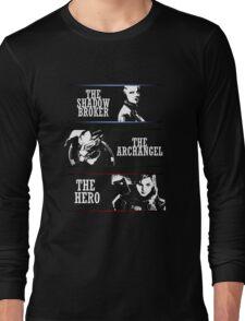 Shadowbroker, Archangel, the Hero femshep Long Sleeve T-Shirt