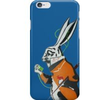 Wonderland Hare - Late for the tea party. iPhone Case/Skin
