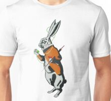 Wonderland Hare - Late for the tea party. Unisex T-Shirt