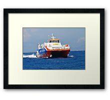 Dodekanisos Express ferry, Nisyros Framed Print