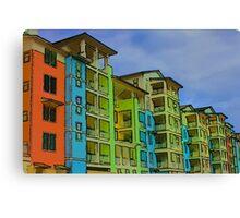 beachfront condos Canvas Print
