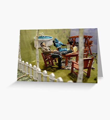 Above Ground Pool Greeting Card