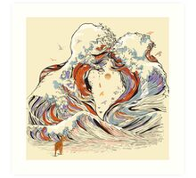The Great Wave of Love Art Print