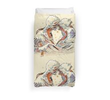The Great Wave of Love Duvet Cover