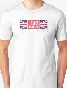 Formula 1's Lewis Hamilton Union Jack World Champion T-Shirt