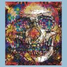 Day Of The Dead 2 (multi colors tee) by Devalyn Marshall