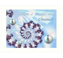 White Christmas Card Art Print