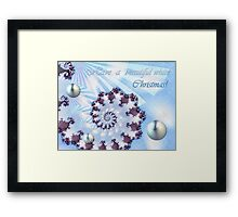 White Christmas Card Framed Print