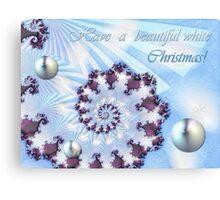 White Christmas Card Canvas Print