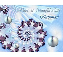 White Christmas Card Photographic Print