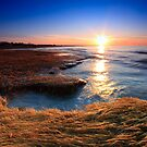 Rock Harbor - Cape Cod, Golden Sunset by capecodart
