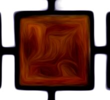 Abstract Squares Oil Painting #2 Sticker