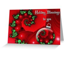 Holiday Blessings Card Greeting Card