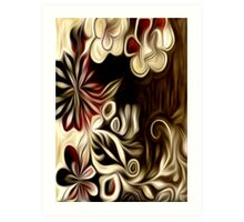 Abstract Flowers Oil Painting #1 Art Print