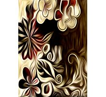 Abstract Flowers Oil Painting #1 Photographic Print