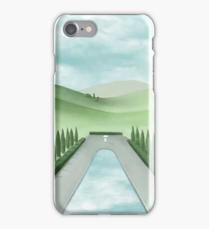 The Long Pond With Cypress Trees iPhone Case/Skin