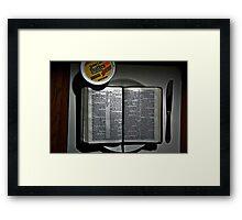 Matthew 4:4  Framed Print
