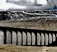 A Hard Landscape  ~ Ribblehead Viaduct and Whernside by patrixpix