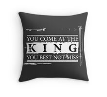 """""""You Come at the King, You Best Not Miss"""" - The Wire (Light) Throw Pillow"""