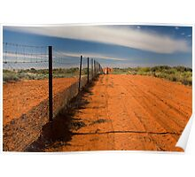 Dog Fence at Cameron's Corner Poster