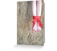 Red Ribbon Greeting Card