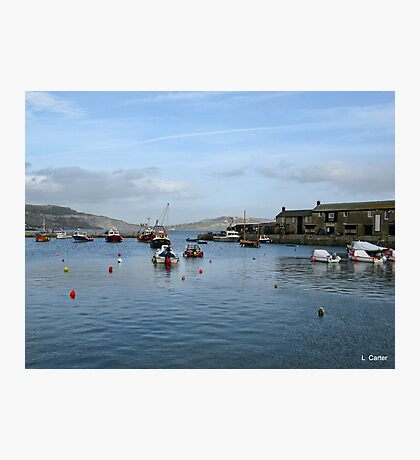 Lyme Harbour Today Photographic Print