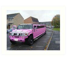 Pink on wheels. Art Print