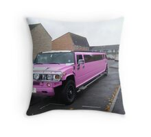 Pink on wheels. Throw Pillow