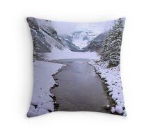 Lake Louise Frozen, Canada Throw Pillow