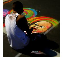 Chalk Artist ~ Part Two Photographic Print
