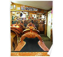 Tack and Saddle Shop Poster