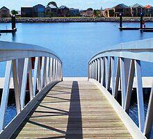 Bridge at Port Adelaide Marina by Joanne Emery