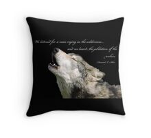 The Jubilation Of The Wolves (V2) Throw Pillow