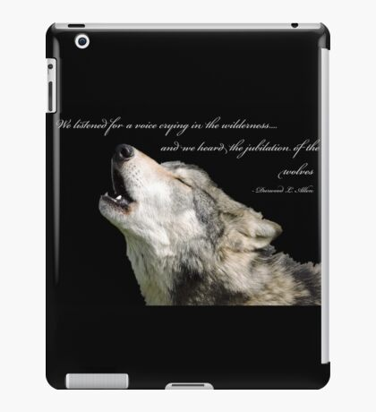 The Jubilation Of The Wolves (V2) iPad Case/Skin