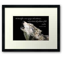 The Jubilation Of The Wolves (V2) Framed Print