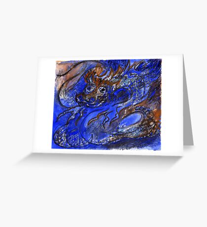 Dragon of Earth and Ocean Greeting Card